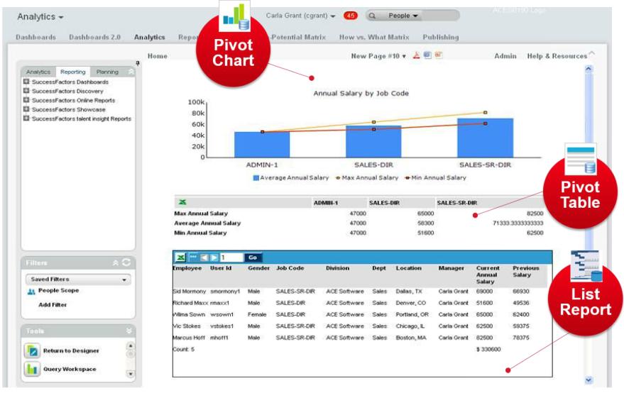 Advanced Reporting & Online Report Designer in SuccessFactors – iProCon